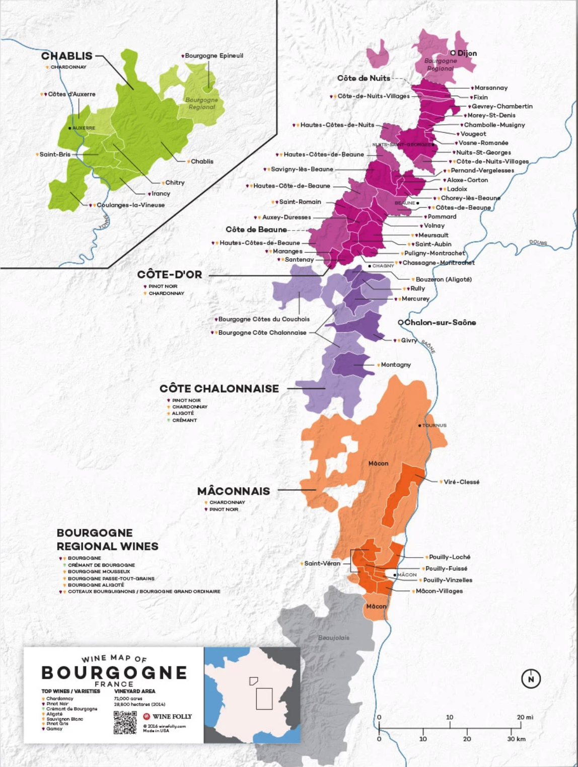 Rully wine map
